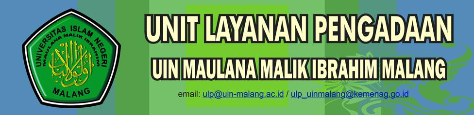 ULP UIN MALANG _ PENGADAAN BARANG JASA